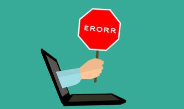 SOS: ERRORES WEB A LA VISTA